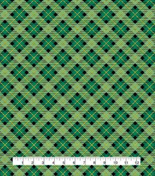 St. Patrick's Day Cotton Fabric-Plaid