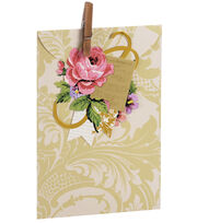 Anna Griffin Ivory Damask Treat Bag 4 Count, , hi-res