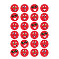 Red Smiles-Strawberry Stinky Stickers 12 Packs
