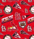 St. Louis Cardinals Cotton Fabric 58\u0022-Vintage
