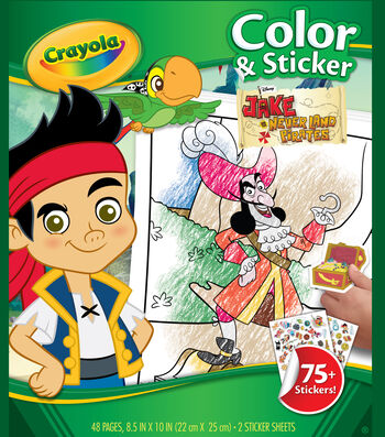 Color 'N Sticker Book-Jake And The Never Land Pirates