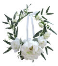 Fresh Picked Spring Peony & Rose Floral Crown-White
