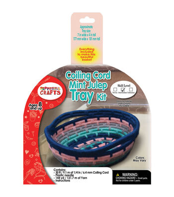 Pepperell Braiding Company Coiling Cord Tray Kit-Mint Julep