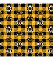 Boston Bruins Fleece Fabric-Buffalo Plaid, , hi-res