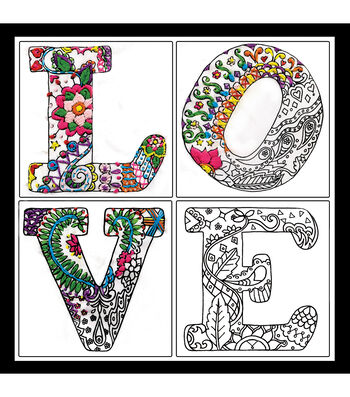 Design Works Zenbroidery Stamped Picture Kit-Love