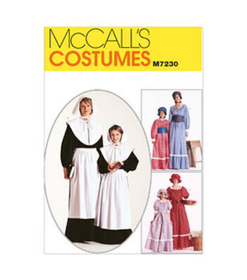 McCall's Pattern M7230-Misses'/Girls' Colonial Costumes