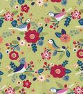 Snuggle Flannel Fabric 42\u0022-Springtime Birdie