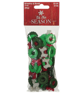 Favorite Findings 3oz Holiday Value Pack Buttons-Wreath And Bows