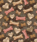 Novelty Cotton Fabric -Dog Treats