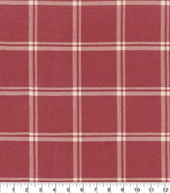 "Home Decor 8""x8"" Fabric Swatch-Waverly Bloomsbury Plaid Cinnabar"