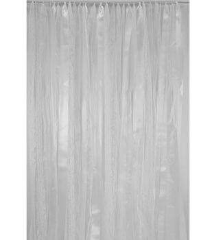 Save the Date 3'x6' Ribbon Backdrop-Silver & White