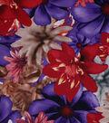 Spring Sheen Scuba Knit Fabric -Pink & Purple Tulip