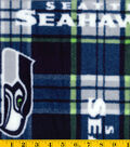 Seattle Seahawks Fleece Fabric 58\u0027\u0027-Plaids