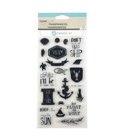Hampton Art 23 pk Clear Stamps-Seas the Day, , hi-res
