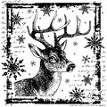 Crafty Individuals Unmounted Rubber Stamp Snowflake Rudolph