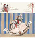 Docrafts Christmas With Wellington Decoupage Card Kit-Rocking Horse