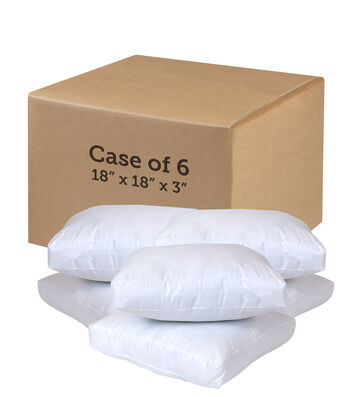 "Poly-Fil 18"" Square Seat Cushions-Case of 6"