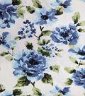 Sportswear Denim Fabric-Blue Floral