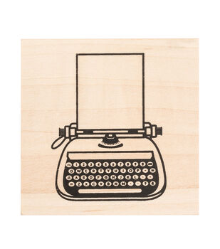 American Crafts Wooden Typewriter Stams