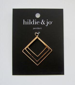hildie & jo Square Pendant-Gold