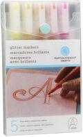 Glitter Markers 4/Pkg-Warm Spectrum