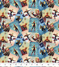 Marvel Cotton Fabric-Captain Marvel Scenes