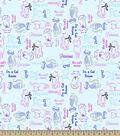 Cat Sketch Art Print Fabric