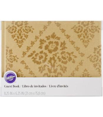 Flocked Kraft Paper Guest Book