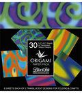 Black Ink 30 pk 5.5\u0027\u0027x5.5\u0027\u0027 Vellum Origami Papers-Funky