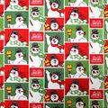 Christmas Cotton Fabric-Frosty the Snowman Blocks
