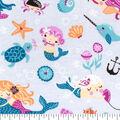 Snuggle Flannel Fabric -Mermaid Friends