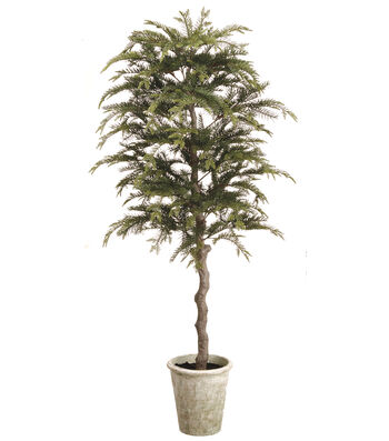 Christmas 60'' Topiary Pine Tree in Paper Mache Pot