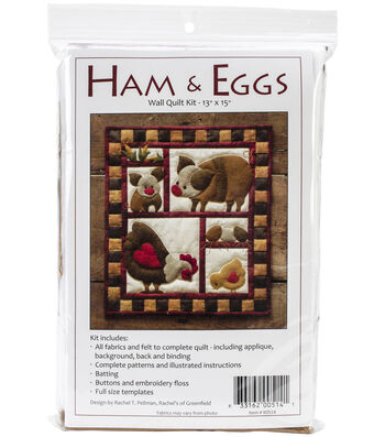 "Wall Quilt Kit 13""x15""-Ham & Eggs"