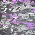 Fast Fashion Knit Fabric-Black & Purple Abstract Animal
