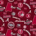 University of Alabama Crimson Tide Cotton Fabric-Home State