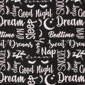 Super Snuggle Flannel Fabric-Sleeping Words