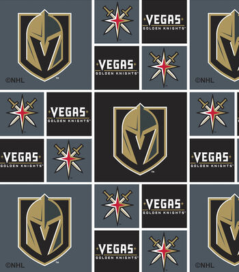 Vegas Golden Knights Cotton Fabric -Block