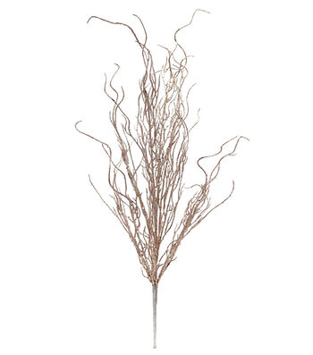 Blooming Holiday Christmas 27'' Glitter Coral Bush-Rose Gold
