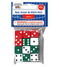 Learning Advantage Red, Green & White Dice, 12 Per Pack, 12 Packs