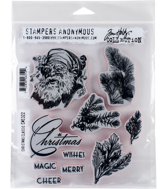 Stampers Anonymous Tim Holtz Cling Stamps Christmas Classic, , hi-res, image 1