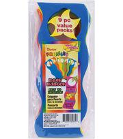 Darice Foam Door Hangers 9/Pkg-Wavy Assorted Colors, , hi-res