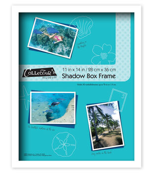Collector's Museum Shadow Box Frame 11''x14''-Omega White