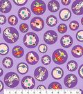 Pokemon Cotton Fabric -Character Purple