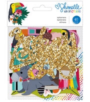 American Crafts Shimelle Box of Crayons Ephemera Cardstock Die-cuts, , hi-res