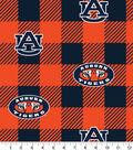 Auburn Tigers Fleece Fabric-Buffalo Plaid