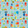 Super Snuggle Flannel Fabric-Cars And Trucks On Gray