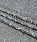 Lightweight Decor Fabric-Damask Gray