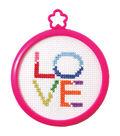 Bucilla My 1st Stitch Love Mini Counted Cross Stitch Kit