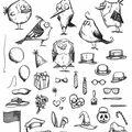 Mini Bird -cling Rbbr Stamp Set