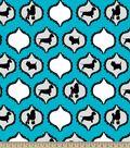 Doggie Silhouette Print Fabric